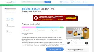 Access client.reed.co.uk. Reed OnTime Timesheet System