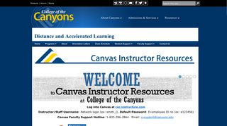 Canvas - College of the Canyons