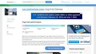 Access coc.instructure.com. Log In to Canvas