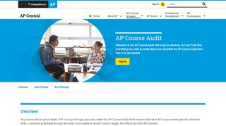 About AP Course Audit | AP Central – The College Board