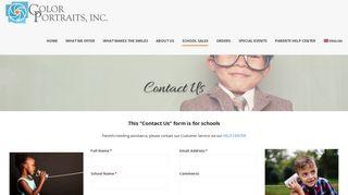 Contact Us – Color Portraits, Inc.