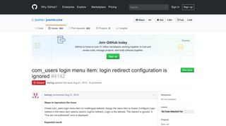com_users login menu item: login redirect configuration is ignored ...