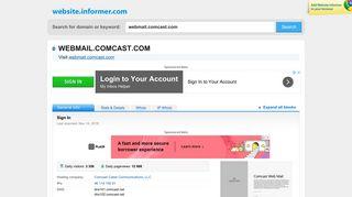 webmail.comcast.com at Website Informer. Sign In. Visit Webmail ...