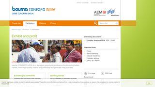 Information for exhibitors | bauma CONEXPO INDIA