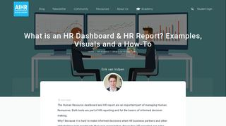 What is a Human Resource Dashboard & HR Report? Examples and ...
