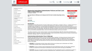 Diagnosing Intermittent Authentication Failures and User Lock Outs in ...