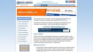 MyResaleWeb.com Consignor Login Information - ConsignPro