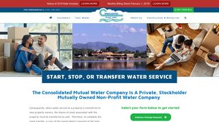 Consolidated Mutual Water Company | Start, Stop, or Transfer Service