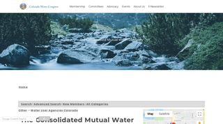 The Consolidated Mutual Water Company - Colorado Water Congress