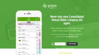 Pay Consolidated Mutual Water Company with Prism • Prism