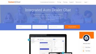Contact At Once   Auto Dealer Chat & Automotive Chat Software from ...