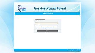 CounselEAR - Hearing Health Portal - Patient Portal