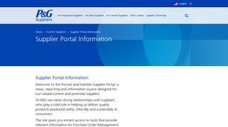 Supplier Portal | PGSupplier.com