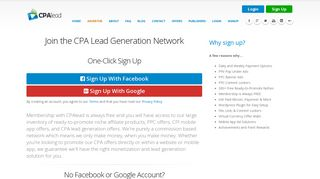 Join the CPA Lead Generation Network