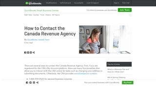 How to Contact the Canada Revenue Agency | QuickBooks Canada