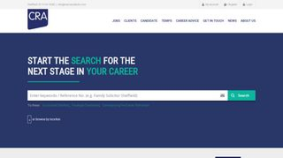CRA Consulting | Legal & Financial Recruitment Agency | Sheffield