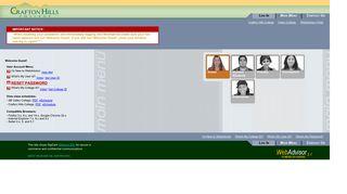 WebAdvisor Main Menu