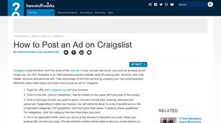 How to Post an Ad on Craigslist | HowStuffWorks
