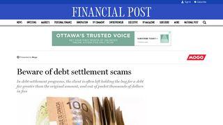 Beware of debt settlement scams   Financial Post