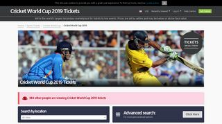 Cricket World Cup 2019 2019 Tickets   Buy or Sell Cricket World Cup ...