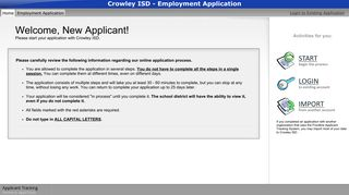 Crowley ISD - Employment Application - applitrack.com