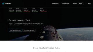 Gemini - The next generation digital asset platform