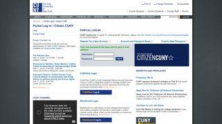 Portal Log-in/Citizen CUNY - CUNY Portal