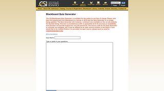 Blackboard Quiz Generator - CSI - College of Southern Idaho