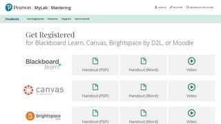 Register for MyLab & Mastering for Blackboard Learn, Canvas ...