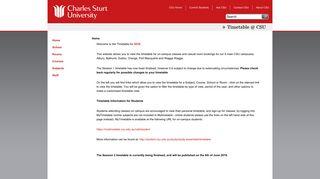 Timetable @ CSU | Charles Sturt University - 2.0.39