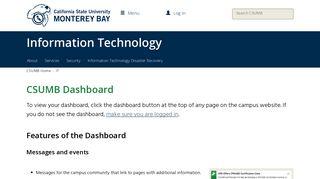 CSUMB Dashboard | Cal State Monterey Bay