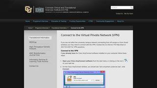 Connect to the Virtual Private Network (VPN)   Colorado ... - CU Denver