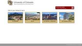 My.CU - Campus Portal Selection - University of Colorado