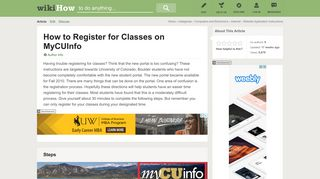How to Register for Classes on MyCUInfo: 14 Steps (with Pictures)