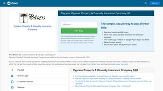Cypress Property & Casualty Insurance Company: Login, Bill Pay ...