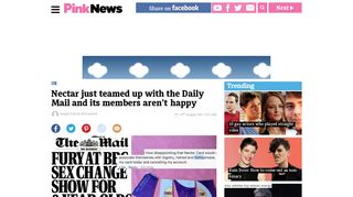 Nectar just teamed up with the Daily Mail and its members aren't ...