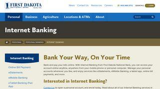 Internet Banking - Personal Banking - Personal - First Dakota National ...