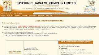 Online Payment - Paschim Gujarat Vij Company Ltd.