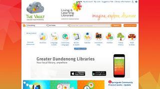 Greater Dandenong Libraries - The Vault - SirsiDynix.com