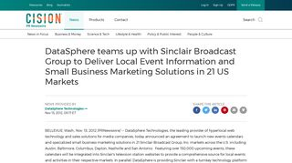 DataSphere teams up with Sinclair Broadcast Group to Deliver Local ...