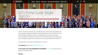 DCO Portal Guide: Single Sign-On | Deep Carbon Observatory