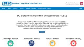 DC Statewide Longitudinal Education Data (SLED)