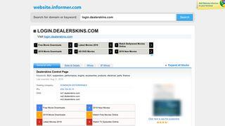 login.dealerskins.com at WI. Dealerskins Control Page