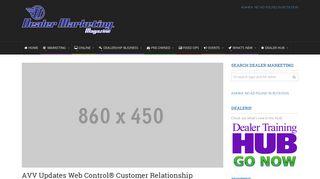 AVV Updates Web Control® Customer Relationship Management ...
