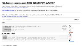 XSS, Cross Site Scripting in login.dealerskins.com, CWE-79, CAPEC ...