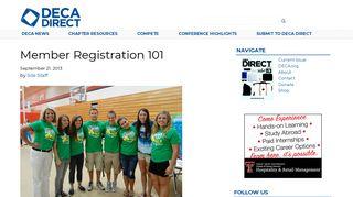 Member Registration 101 - DECA Direct