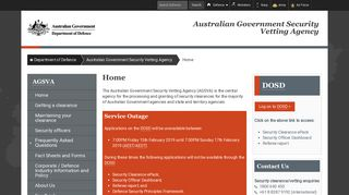 Home : Australian Government Security Vetting Agency ... - Defence