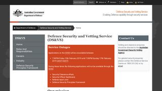 Home : Defence Security and Vetting Service : Department of Defence