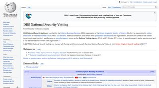 DBS National Security Vetting - Wikipedia