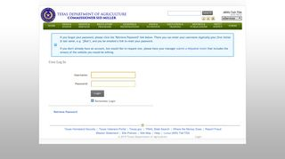 Login - Texas Department of Agriculture